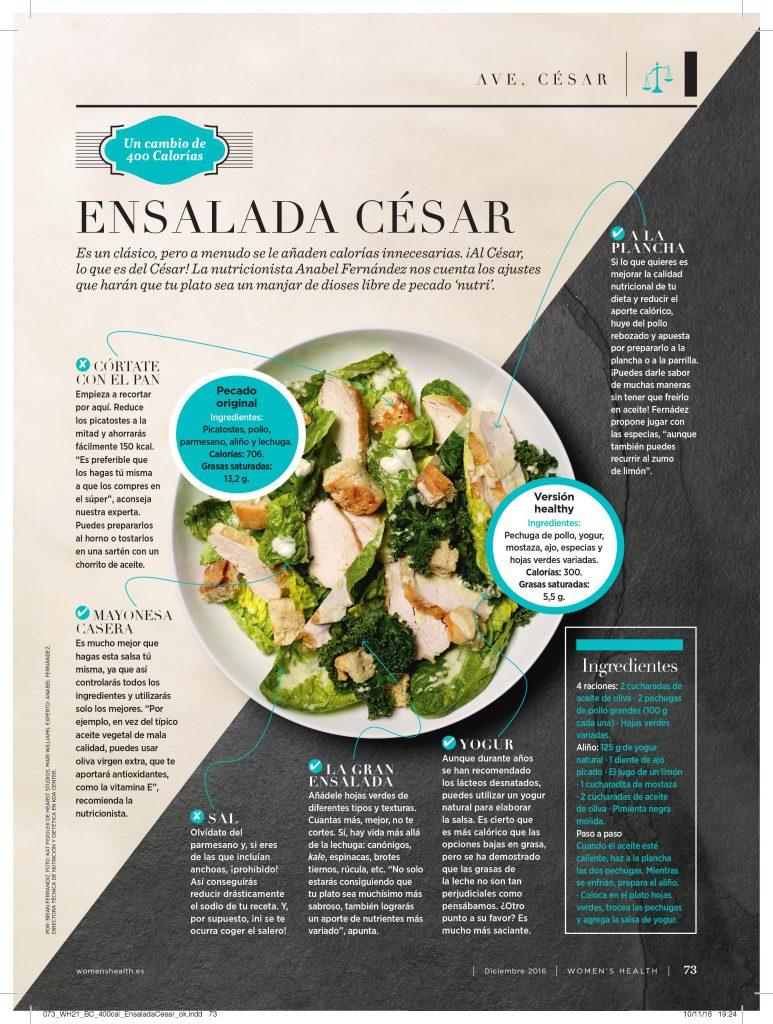 Ensalada César Saludable